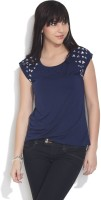 Chemistry Casual Short Sleeve Solid Women's Top