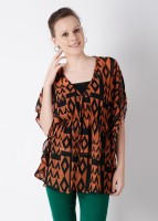 AND Casual 3/4 Sleeve Printed Women's Top