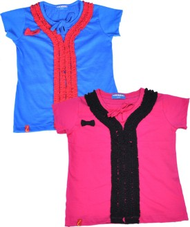 Clever Casual Short Sleeve Solid Baby Girl's Multicolor Top - TOPEJFF2RARTHXUV