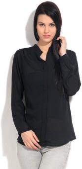 Van Heusen Casual Full Sleeve Solid Women's Top