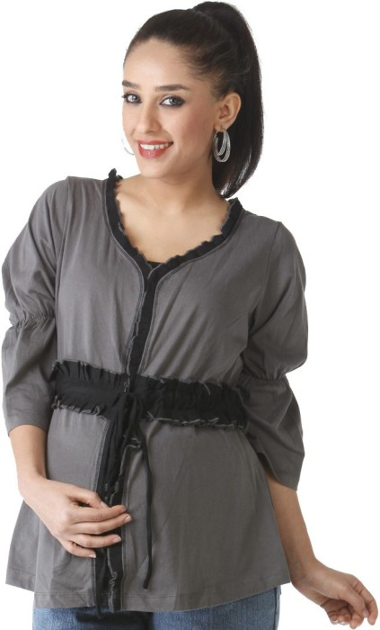 Morph Maternity Casual 3/4 Sleeve Solid Women's Top - TOPE6KGK8S3XENZZ