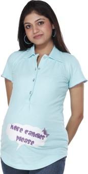 Morph Maternity Casual Short Sleeve Printed Women's Top - TOPE72HZSFEEE8KS