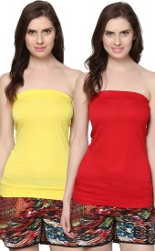 Trend18 Casual Sleeveless Solid Women's Top