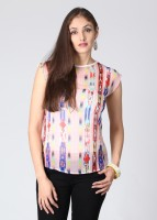 Noi Casual Short Sleeve Printed Women's Top
