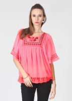 Bronz Casual Short Sleeve Printed Women's Top