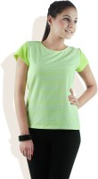 DONE BY NONE Casual Short Sleeve Striped Women's Top