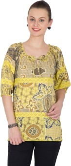 U&F Casual Roll-up Sleeve Floral Print Women's Top