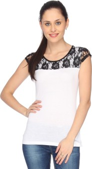 Identiti Casual Short Sleeve Solid Women's Top - TOPEFUHGHTHYSGTG