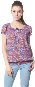 Meira Party Short Sleeve Floral Print Women's Top