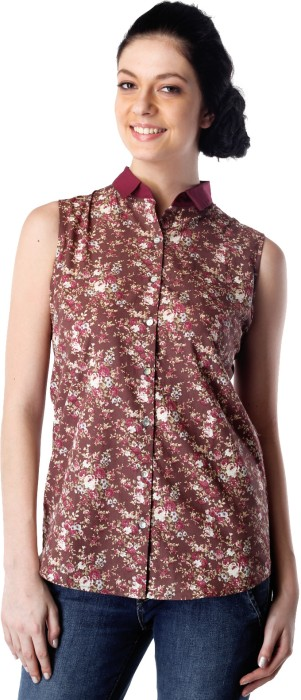 Bombay High Casual Sleeveless Floral Print Women's Top