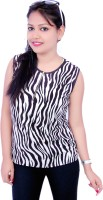 Aussehen Casual Sleeveless Animal Print Women's Top