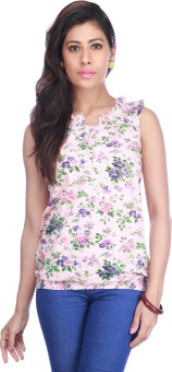 Stop To Start Casual Sleeveless Floral Print Women's Top