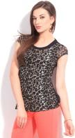 Riot Casual Short Sleeve Animal Print Women's Top - TOPDWPWYHPBX3HMA