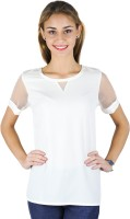 Trend Arrest Formal, Casual, Festive, Party Short Sleeve Solid Women's Top