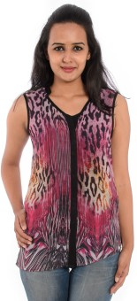 House Of Tantrums Casual Sleeveless Animal Print Women's Top