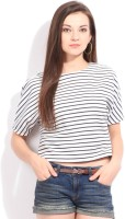 Vero Moda Casual Short Sleeve Striped Women Top
