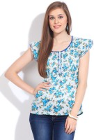 Mossimo Casual Short Sleeve Floral Print Women's Top
