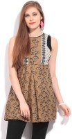 Global Desi Casual Sleeveless Printed Women's Top