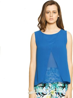 Zink London Casual Sleeveless Solid Women's Top