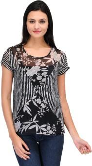 Motif Casual Short Sleeve Printed Women's Top