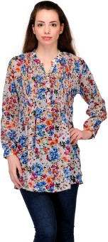 Belle Casual Full Sleeve Floral Print Women's Top