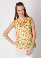 United Colors of Benetton Casual Sleeveless Printed Women's Top