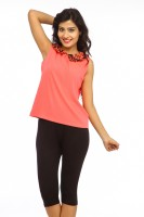 Missy Miss Casual Sleeveless Solid Women's Top