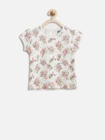 Yellow Kite Baby Casual Short Sleeve Floral Print Baby Girl's Top