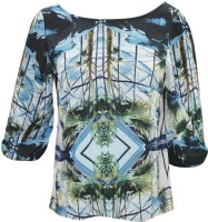 Indiatrendzs Casual 3/4 Sleeve Printed Women's Top