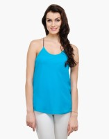Besiva Casual Sleeveless Solid Women's Top