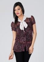 Cherokee Casual Short Sleeve Printed Women's Top
