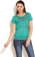 109F Casual Short Sleeve Printed Women's Top