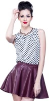 Faballey Formal Sleeveless Polka Print Women's Top