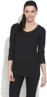 Heart 2 Heart Casual 3/4 Sleeve Solid Women's Top