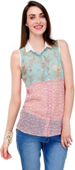Yepme Casual Sleeveless Printed Women Top