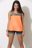 Done By None Party Sleeveless Solid Women's Top