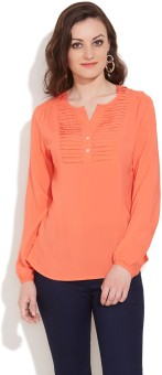 Victor Brown Festive Full Sleeve Solid Women's Top