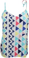 Indiatrendzs Casual Sleeveless Printed Women's Top