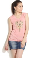Fusion Beats Casual Sleeveless Solid Women's Top