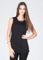 Latin Quarters Casual Sleeveless Solid Women's Top