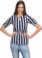 Stilestreet Casual 3/4 Sleeve Striped Women's Top
