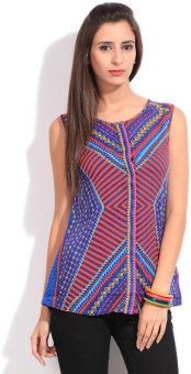 Global Desi Casual Sleeveless Printed Women's Top