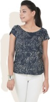 DONE BY NONE Casual Short Sleeve Solid Women's Top