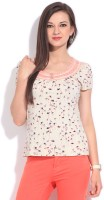 Debenhams-John Rocha Casual Short Sleeve Floral Print Women's Top