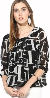 Mayra Party 3/4 Sleeve Printed Women's Top
