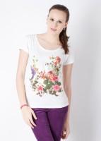 Allen Solly Casual Short Sleeve Printed Women's Top