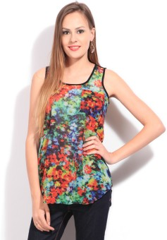 People Casual Sleeveless Floral Print Women's Top: Top