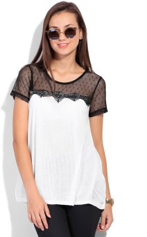 Vero Moda Casual Short Sleeve Solid Women's Top