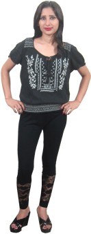 Indiatrendzs Casual Short Sleeve Embroidered Women's Top