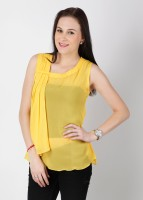 Soie Casual Sleeveless Solid Women's Top
